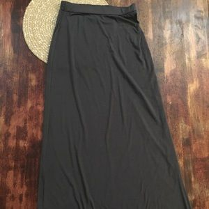 Ambiance Apparel Gray Maxi Skirt